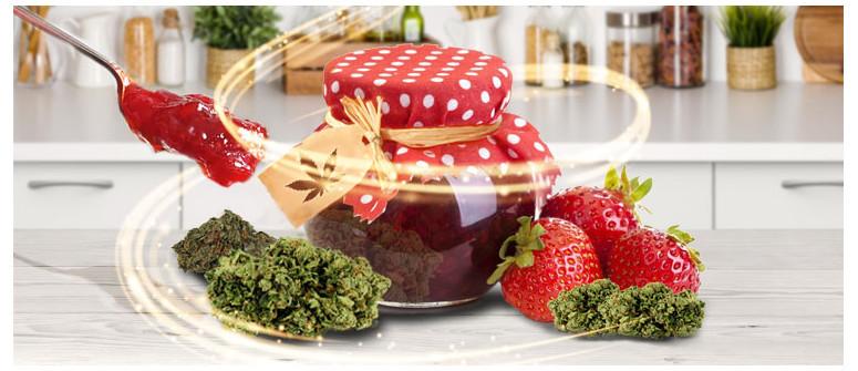 Rezept für mit Cannabis angereicherte Konfitüre und Marmelade