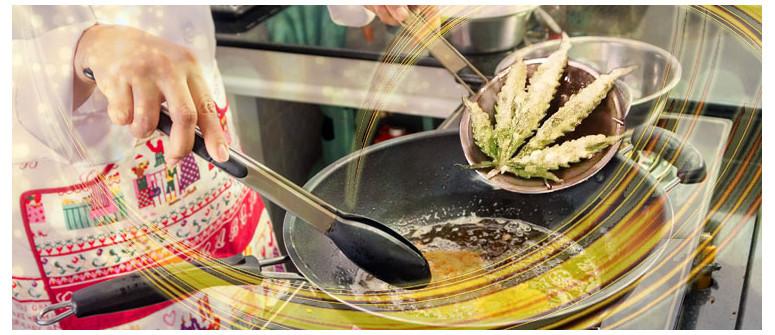 Rezept für frittierte Marihuanablätter