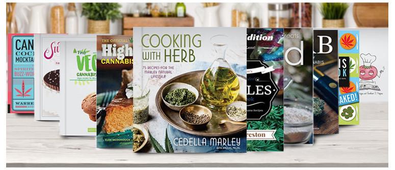 10 inspirierende Bücher für das Kochen mit Cannabis