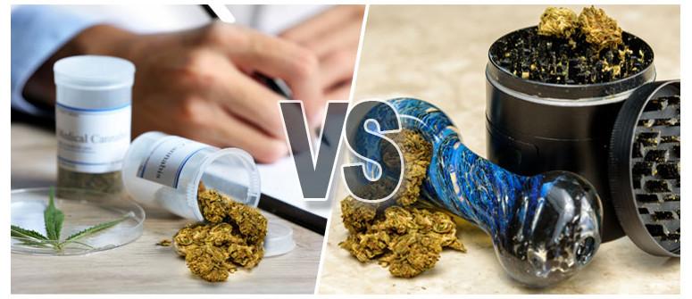 Der Unterschied zwischen medizinischem und Marihuana als Genussmittel