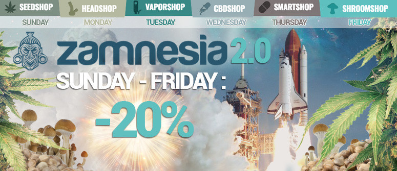 Zamnesia startet 'ZAMNESIA 2.0' - Große rabatte!