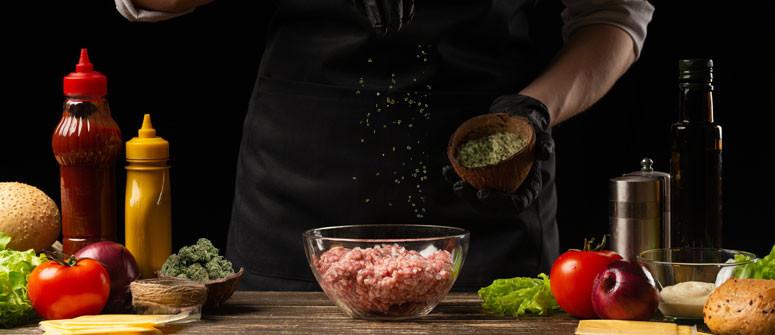 Cannabis-Burger Rezept. Breiteres Fleisch!