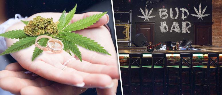 Bud-Bars und Weed-Hochzeiten. Cannabis mit Stil.