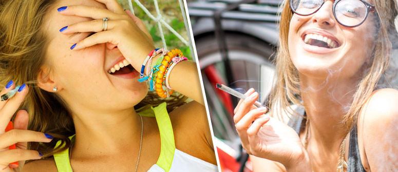 Warum muss Man von Marihuana lachen?