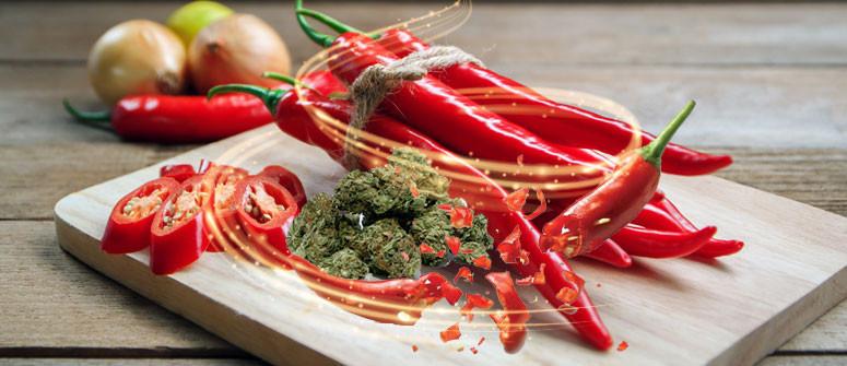 Scharfe Chilischoten und Cannabis könnten bei nervösem Magen helfen